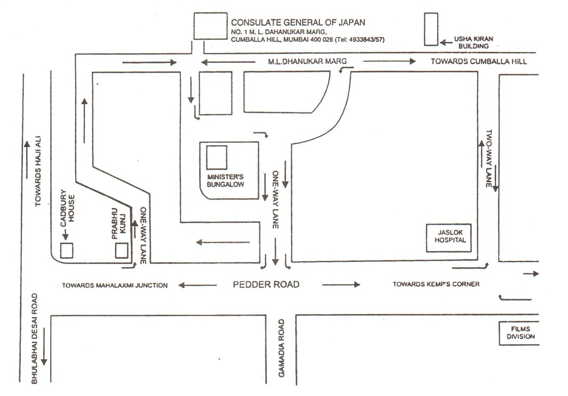 Consulate General Of Japan In Mumbai  Contact Address - Us embassy location map
